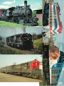 Five (5) US Railway Cards New Unused From Railcards California Lot No 10