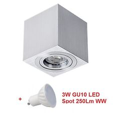 3W LED Aufbaustrahler DUCE Deckenlampe cube Leuchte Deckenspot Anbau Strahler