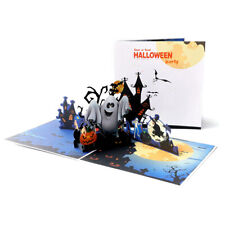 3D Greeting Cards Surprise Pumpkin Ghost Cards Halloween Holiday Postcard BX