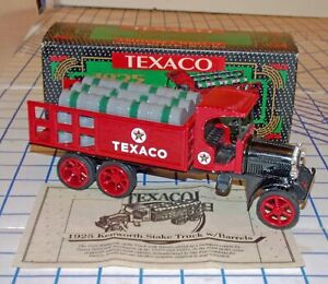 ERTL Texaco 1925 Kenworth Stake Truck w/Barrels 1/34 Scale Diecast Bank MIB