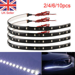 30CM 15 LED Car Flexible Strip Home Decoration White Light Lamps 12V Waterproof