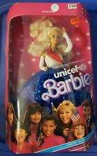Barbie UNICEF Doll 1989 Blonde Special Edition #1920 Unopened Box Mattel