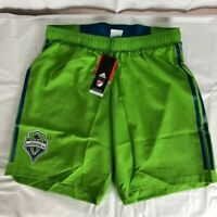 adidas ClimaLite Authentic MLS Seattle Sounders Soccer Shorts Rave Green