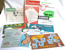 8 DOCUMENTS PUB ALIMENTATION ANIMALE ELEVAGE STAR SANDERS CHANTECOQ VERS 1960