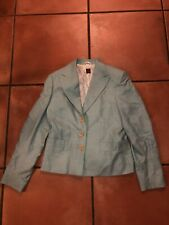 EUC Giorgio's Of Palm Beach Cashmere Baby Blue Blazer Women's Suit Coat Sz 42R