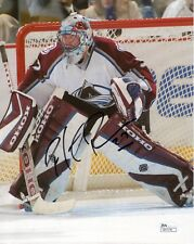 PATRICK ROY HAND SIGNED 8x10 COLOR PHOTO      COLORADO AVALANCHE GOALIE     JSA