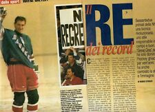 SP93 Clipping-Ritaglio 1999 Wayne Gretzky Il re dei record