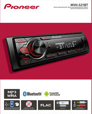 NEW Pioneer MVH-S21BT Bluetooth Car Stereo Receiver AM/FM Audio System Radio