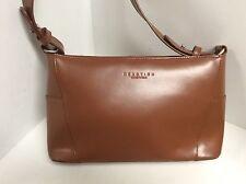 Kenneth Cole Reaction Handbag Shoulder Strap Brown Leather H44