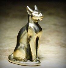 "Collectible Figurine Miniature Cat ""Bastet"" Sphinx Talisman Brass Handmade"