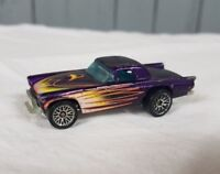 vtg Hot wheels diecast car purple with flames Mattel 1977 hot rod