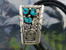 Sterling Silver & Turquoise Ultra High Quality Bolo Tie by a famous maker Roger