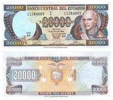 Ecuador 20000 Sucres 1999 P-129f Banknotes UNC
