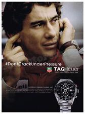 TAG HEUER Carrera - Ayrton Senna watch advertisement A4 size HQ print