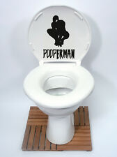 SPIDERMAN Style (POOPERMAN) Toilet Seat Sticker Fun Decal Vinyl  new design