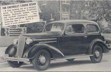 Chevrolet 1936 2 Door Salesmans Card Period Postcard