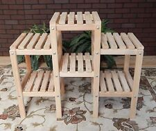 Plant Stand Cypress Wooden 6 Shelf Indoor Outdoor Patio Flowers Garden Yard