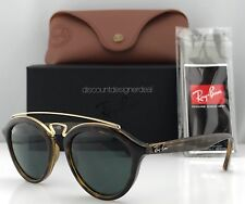 915f00deb7 Ray-Ban Gatsby II RB4257 Oval Sunglasses Havana Brown Green Lens 710 71  Small