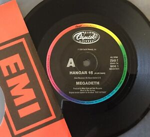 """MEGADETH Hangar 18 / The Conjuring CAPITOL 7"""" AUSSIE MX307612 Mint and unplayed"""