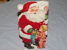 Vintage Collectible~Used-Christma s Santa Claus-Free Standing Card~Hallmark Cards