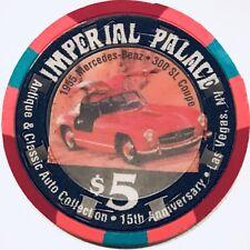 $5 Imperial Palace Casino Chip - Las Vegas - Antique Auto Mercedes 300 SL - RARE