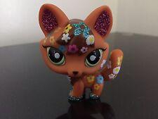 Littlest Pet Shop Fox #2341 Shimmer Shine Sparkle Glitter Green Eyes USA Seller