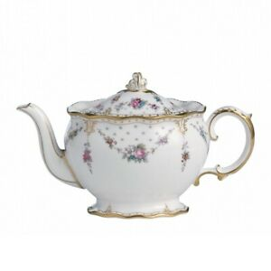 Royal Crown Derby Antoinette 4 Person Teapot : 2nd Quality