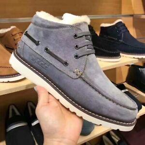 DK UGG Men Outdoor Boots Men's Winter Warm Shoes Wool DK501 EUR41