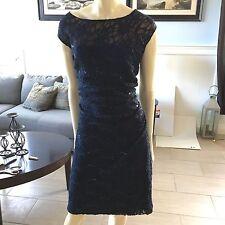 Lauren Ralph Lauren plus size 16W Formal lace Sheath Dress with ruched waist