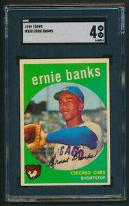 Ernie Banks 1959 Topps #350 SGC 4