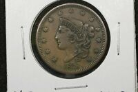 1838 Braided Hair Large Cent,  XF