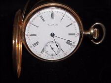 1923 16 size hunter case 15 jewels 442 14k yellow gold Waltham pocket watch