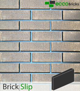 Brick Slip Wall Cladding Brick Tiles Real Clay - Natural Burnley Dark Multi Grey