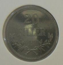 UNGARN: 20 FILLER 1918, KURSMÜNZE, RESTRIKE, (Alb.III), SELTEN ! PP !