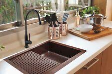"""Copper Kitchen Sink UNDER/RACK 33""""x22"""""""