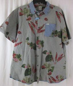 Men's Size XL Marc Ecko Cut & Sew Short Sleeve Flowers Shirt