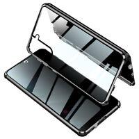 Metall Glas 360-Grad Schutzhülle Cover Case für Samsung Galaxy S21/ Plus/ Ultra