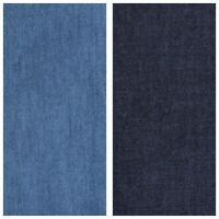 4 oz SOFT WASHED INDIGO DENIM 100% COTTON FABRIC dressmaking shirts CHAMBRAY