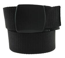 Trekker Metal Free Ratchet Buckle Web Belt Made in USA by Thomas Bates (Black)