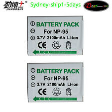 By AU-ship  2XNP-95 Battery For FinePix 3D W1 X100 X100S X100T X-S1 X30 F30 NP95