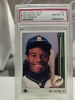 1989 Upper Deck MLB Card - #1 - Ken Griffey Jr. Rookie RC - PSA 8 NM-MT/Mint