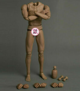 """Suntan Europe Man 1/6th Skin Men Male Muscle Body Doll Fit 12"""" Collection Toy"""