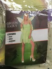 Ladies 10-14 Green Fairy Fancy Dress Up Costume VGC tale Tinkerbell Peter Pan