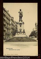 1313.-BARCELONA -759 Monumento de Clavé (Hauser y Menet) (Postal sin División)