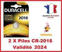 2 Pile CR-2016 DURACELL bouton Lithium 3V DLC 2026