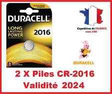 2 Batterie CR-2016 DURACELL knopf Lithium 3V DLC 2024