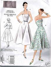 1953 VOGUE 2961 Vintage Dress Pattern Reprint Sz 12-18 UNCUT