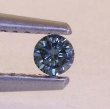 1.45mm loose round blue colored diamond .015ct estate vintage antique treated