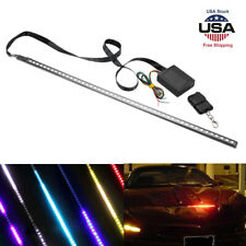 22inch 7Color 48LED RGB Scanner Flash Car Strobe Knight Rider Kit Light Strip US