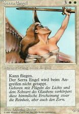 Magic Mtg German Foreign White Border 4th Edition Serra Angel   lightly played